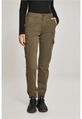 Pantaloni Cargo cu talie inalta pentru Femei oliv Urban Classics