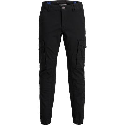 Pantaloni Cargo Jack and Jones Paul Flake Slim Stretch cu mansete pentru copii negru