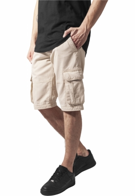 Pantaloni cargo scurti bej Urban Classics