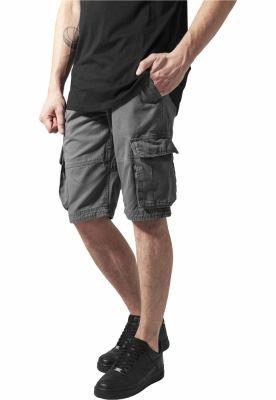 Pantaloni cargo scurti gri inchis Urban Classics