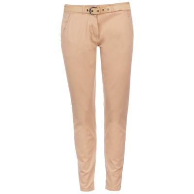 Pantaloni chino Kangol cu curea bej