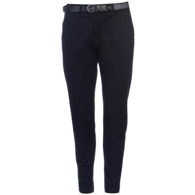 Pantaloni chino Kangol cu curea bleumarin