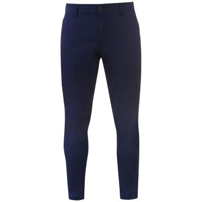 Pantaloni chino Lyle and Scott Skinny bleumarin z99