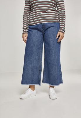 Pantaloni Culottes Denim pentru Femei albastru-albastru Urban Classics