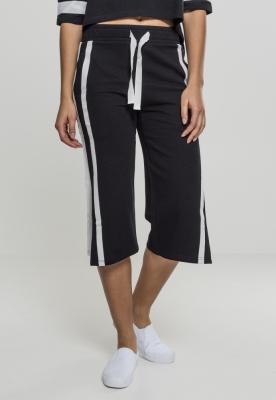 Pantaloni Culottes Taped Terry pentru Femei negru-alb Urban Classics