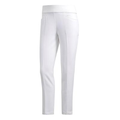 Pantaloni de golf adidas Pull On glezna pentru femei alb