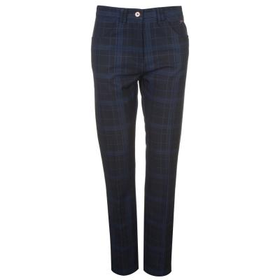 Pantaloni de golf Slazenger Check Winter pentru Femei bleumarin