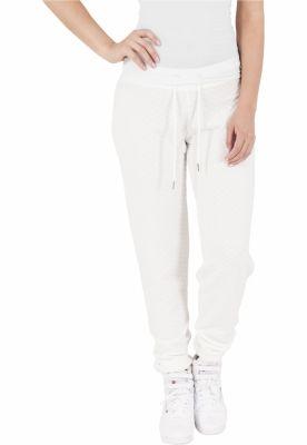 Pantaloni jogging cu aspect matlasat alb murdar Urban Classics