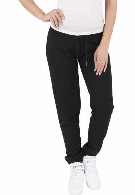 Pantaloni jogging cu aspect matlasat negru Urban Classics