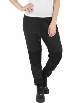 Pantaloni jogging scuba cu plasa la genunchi negru Urban Classics
