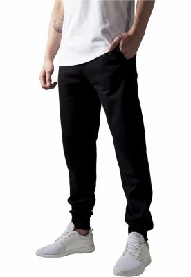 Pantaloni de trening barbati fit negru Urban Classics