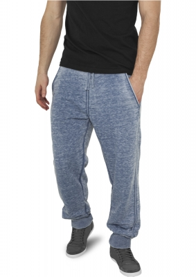 Pantaloni de trening cu elastic jos albastru-denim Urban Classics