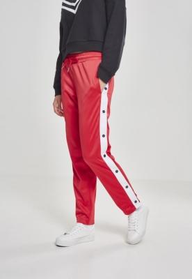 Pantaloni de trening cu nasturi pentru Femei foc-rosu Urban Classics alb bleumarin