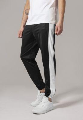 Pantaloni de trening negru-alb Urban Classics