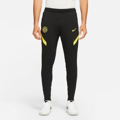 Pantaloni de trening Nike Chelsea Strike 2021 2022 pentru Barbati negru galben