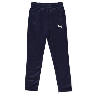 Pantaloni de trening Puma conici pentru baietei bleumarin