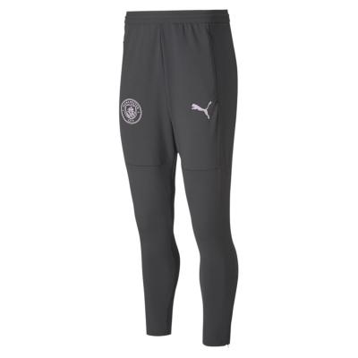 Pantaloni de trening Puma Manchester City 2020 2021 pentru Barbati gri roz