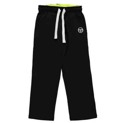 Pantaloni de trening Sergio Tacchini Elbow pentru baietei negru galben
