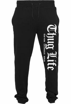 Pantaloni sport Thug Life Cities negru Mister Tee