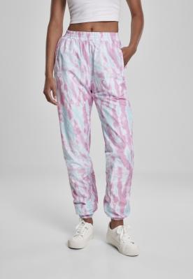 Pantaloni de trening Tie Dye pentru Femei albastru-roz Urban Classics