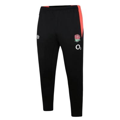 Pantaloni de trening Umbro Anglia Rugby conici pentru Barbati negru coral
