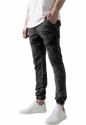 Pantaloni denim barbati acid-negru Urban Classics