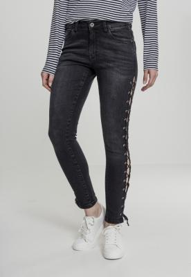 סגנונות רבים באופן שונה די נחמד Pantaloni Denim siret Skinny Femei negru-washed Urban Classics ...