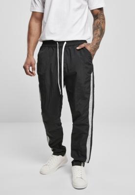 Pantaloni dungi laterale nailon negru-gri Urban Classics
