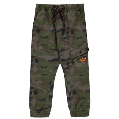 Pantaloni Firetrap Camo Cargo pentru baietei camuflaj multicolor