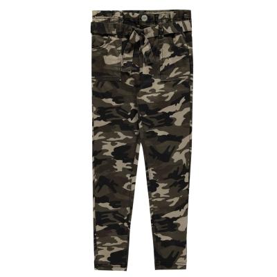 Pantaloni Firetrap Camo pentru fetite oliv camuflaj