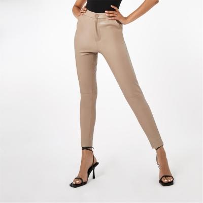 Pantaloni Firetrap PU bej