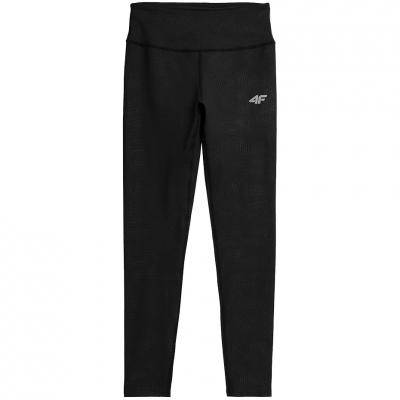Pantaloni Functional 4F Deep Side negru H4Z21 SPDF018 20S pentru femei