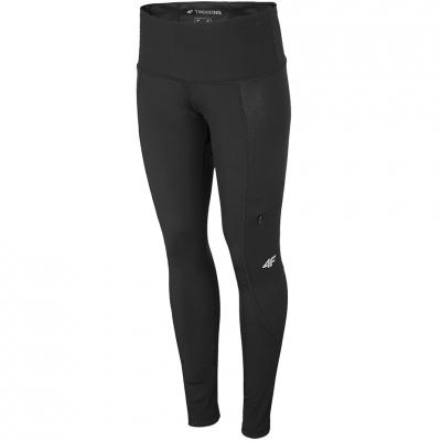 Pantaloni Functional 4F negru intens H4L21 SPDTR060 20S pentru femei