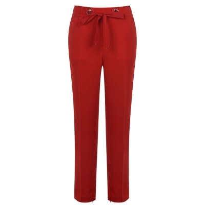 Pantaloni HUGO Relaxed-Fit open roz