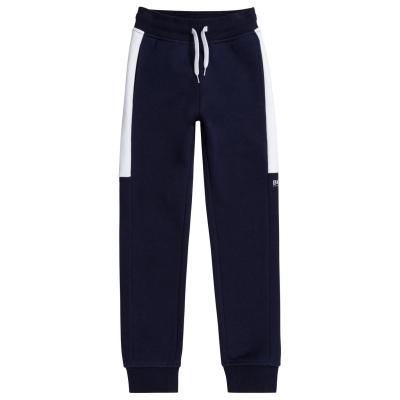 Pantaloni jogging Boss Hugo Boss Poly pentru copii bleumarin