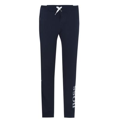 Pantaloni sport BOSS cu imprimeu mare bleumarin