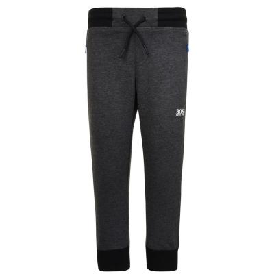 Pantaloni jogging BOSS cu mansete pentru baieti pentru Copii gri