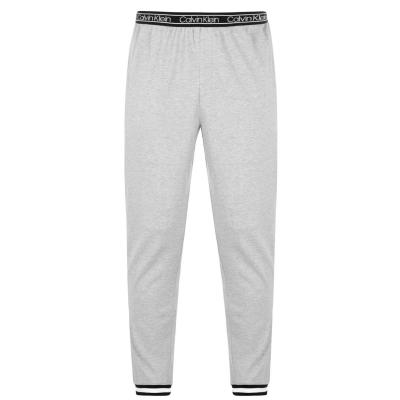 Pantaloni jogging Calvin Klein cu logo la talie gri