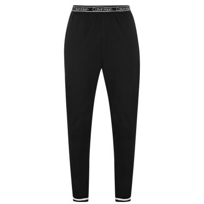 Pantaloni jogging Calvin Klein cu logo la talie negru