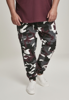 Pantaloni jogging Camo Cargo 2.0 visiniu-camuflaj Urban Classics
