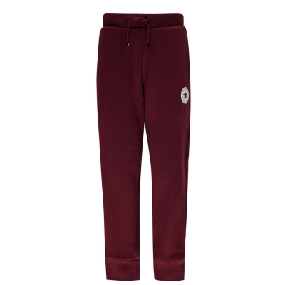 Pantaloni jogging Converse Chuck pentru baietei inchis rosu burgundy