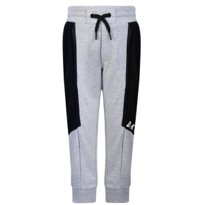 Pantaloni jogging DKNY negru Logo gri chine