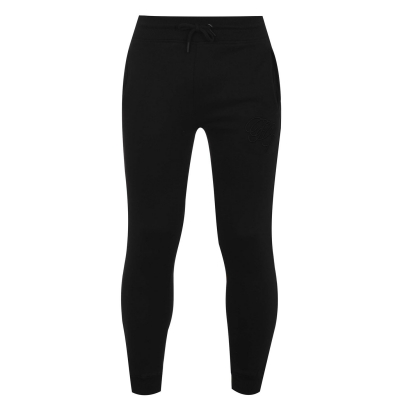Pantaloni jogging Fabric Embroidered conici negru