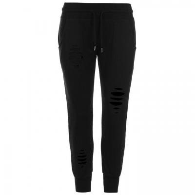 Pantaloni jogging Firetrap Distressed pentru Femei negru