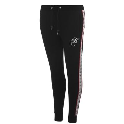 Pantaloni jogging Hardcore Brooklyn negru alb
