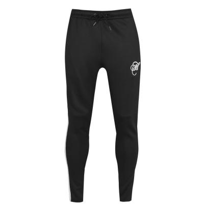 Pantaloni jogging Hardcore Ortega negru alb