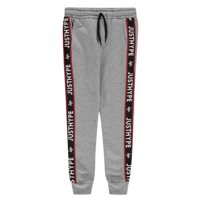 Pantaloni jogging Hype Tape gri negru