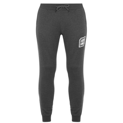 Pantaloni jogging Jack and Jones Logo inchis gri mel