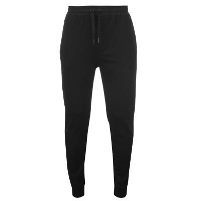 Pantaloni jogging Karl Lagerfeld Logo cu fermoar negru