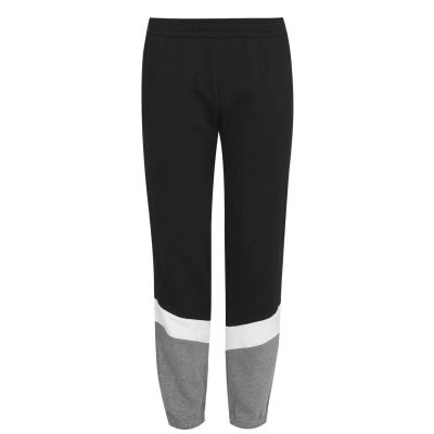 Pantaloni jogging LA Gear cu mansete pentru Femei negru inchis gri m